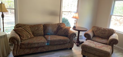 Paisley used Bernhardt couch, chair, and ottoman
