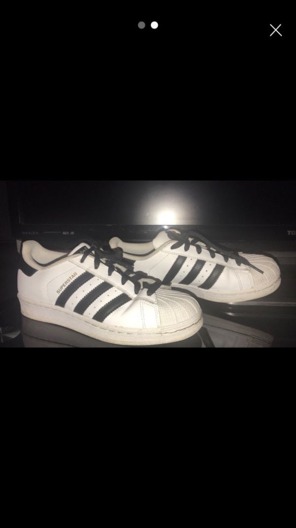 c24db9f8281 Used White-and-black adidas low-top sneakers for sale in Bradford ...
