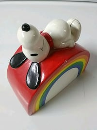 Vintage Snoopy on rainbow coin bank Baltimore