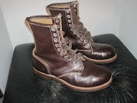 Vintage Rare Brown Military Combat Style Boots - Unisex Styling Winnipeg