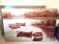 Brown wooden framed painting 6 feet by 4 feet Langley, V3A 0T9