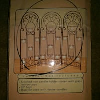 Home Interiors scrolled iron candle holder screen Portsmouth, 23707