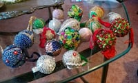 18 vintage hand beaded ornaments Hagerstown, 21742