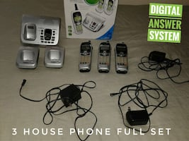 Digital Answering System with 3 Phones