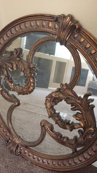 brown wooden framed mirror with mirror Las Vegas, 89117