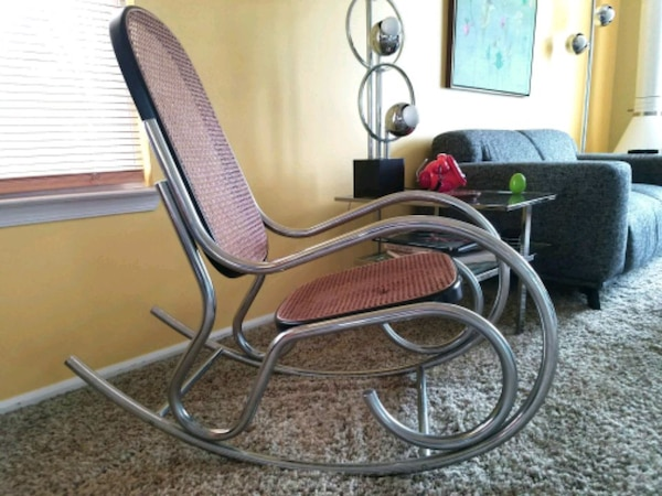 Mid Century Modern Chrome Rocking Chair Usado En Venta Little Egg Harbor Township Letgo