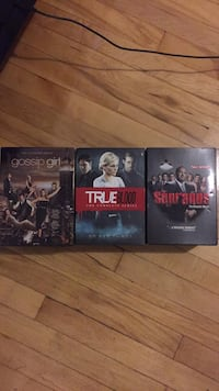 Gossip Girl, True blood and The Sopranos box sets.