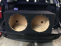 Black and white subwoofer enclosure Beverly Hills, 90210