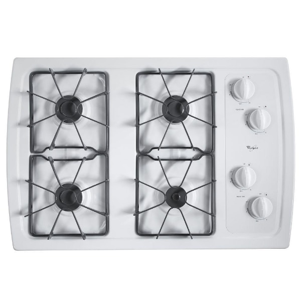 Used Whirlpool W3cg3014xw 30 Gas Cooktop With 5 000 Btu Accusimmer Burner For In Garland