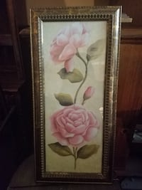 Pink and white flowers painting 218 mi