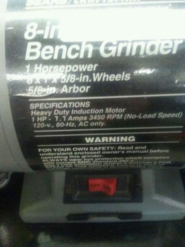 Pictures On Craftsman 8 Inch Bench Grinder Manual