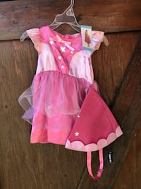 Ew with tags pink princess dress with hat size 6-12 months Montréal, H8Z 3H8