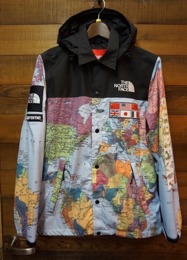 Used Supreme North Face Map Jacket Size Medium For Sale In