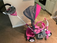 Little Tikes Perfect Fit Stroll, Pedal, Learn, & Ride Toddler Tricycle, Pink Williamsburg, 23188