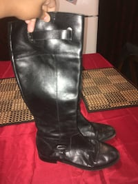 pair of black leather knee-high boots Providence, 02908