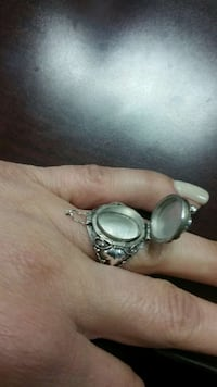 .925 silver poison ring with Topaz stone McAllen