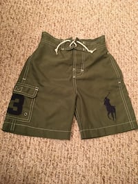 Polo by Ralph Lauren Big Pony Boys 4T Swim Shorts Olive Green Wheeling, 60090
