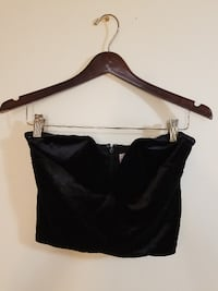 Express Black Low V Crop Top New WIth Tags