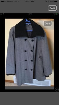 Women's plus size black and gray double breasted coat. Calgary, T3G 4M5