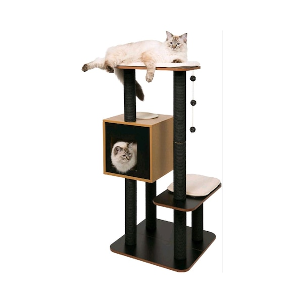 Used Vesper V High Base Modern Cat Tree For Sale In Brooklyn Letgo