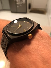 Nixon Time Teller Watch - Black with Gold