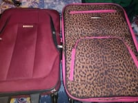 two red and black luggage bags Fort Smith, 72901
