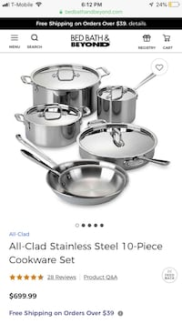 All clad d5 stainless 10 piece set cookware pot set,brand new Wesley Chapel, 33544