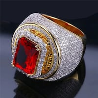 Iced out ruby ring  Burnaby, V5A 4G8