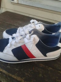 pair of white-and-black Tommy Hilfiger low-top shoes Surrey, V4N 0K1