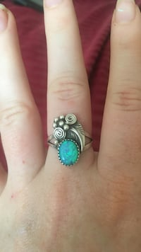Blue fire opal ring sterling ailver El Cerrito, 94530