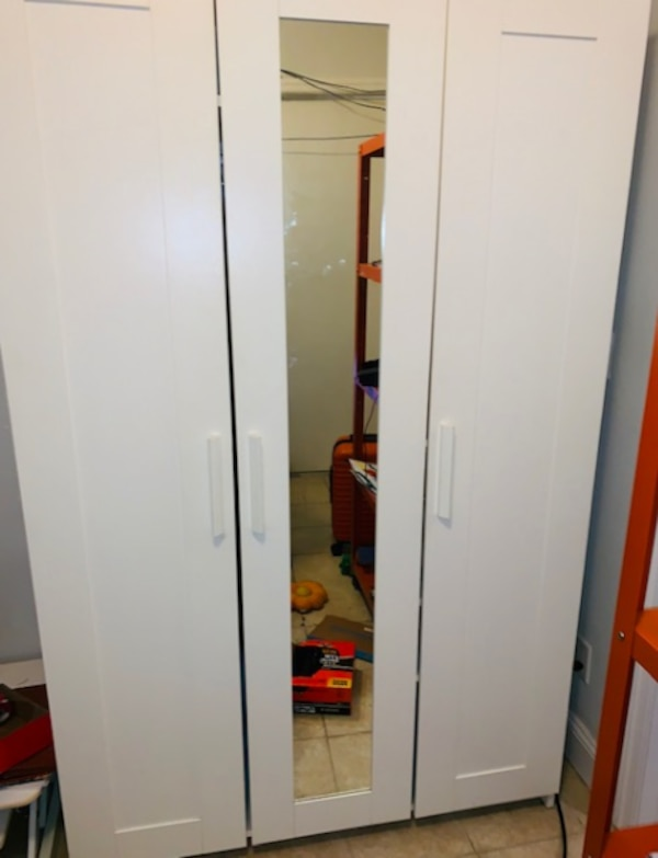 separation shoes fc310 e588d IKEA 3-Door Wardrobe with Mirror and Shelves