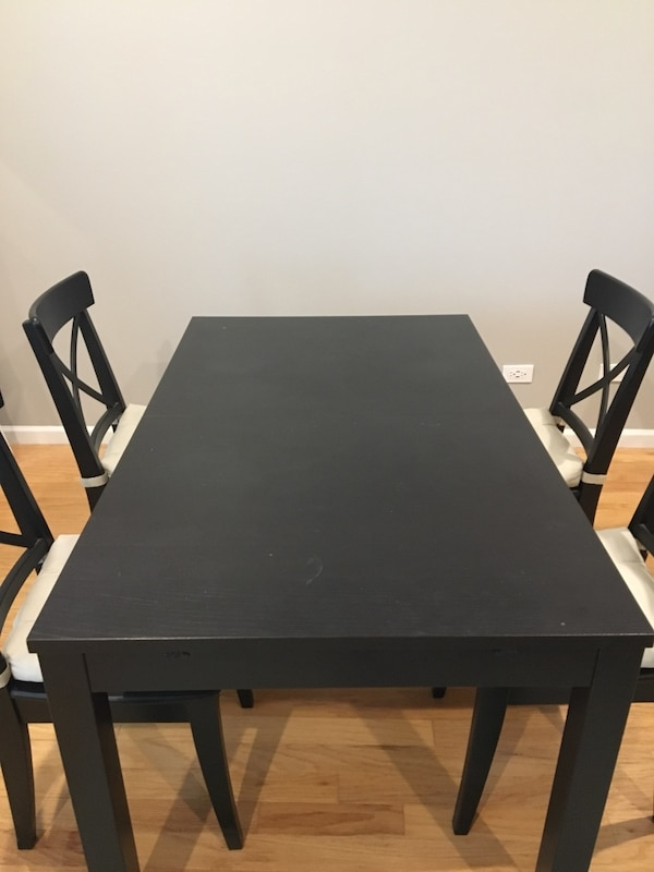 Ikea Bjursta Table 21198 And 4 Ingolf Chairs 20948