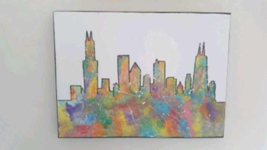 Painting Chicago skyline ac017cc3-ae79-4451-aa8a-2233866f831f