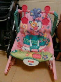 baby's multicolored Fisher-Price bouncer Union, 39365