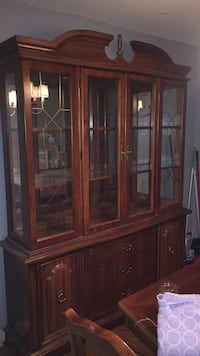 brown wooden framed glass display cabinet Frederick, 21701