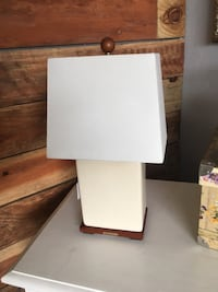 Ralph Lauren white crackled glass lamp