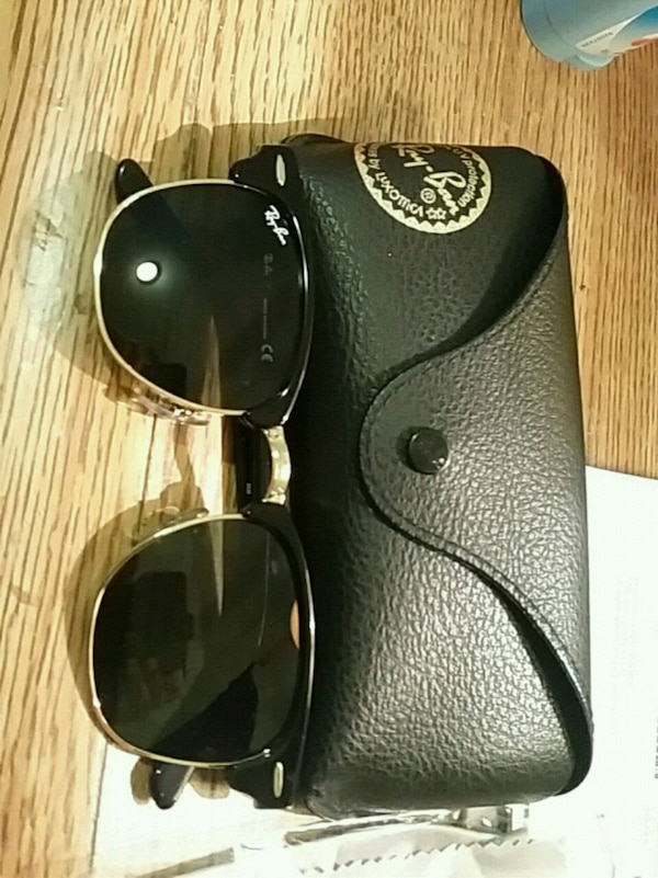 97794b31aaf5 Used black Ray-Ban Clubmaster sunglasses with case for sale in Toronto -  letgo
