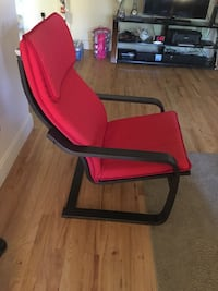 red and black rolling armchair Little Falls, 07424