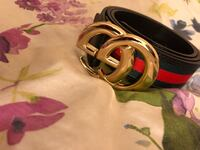 silver-colored Gucci buckle with red leather belt Ottawa, K1K 3A6