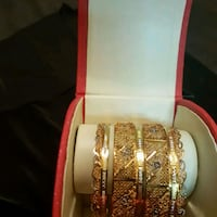 Beautiful gold plated bangles colour never change  Toronto, M9V 4J4