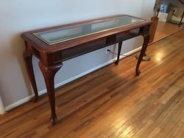 Glass rectangle end table