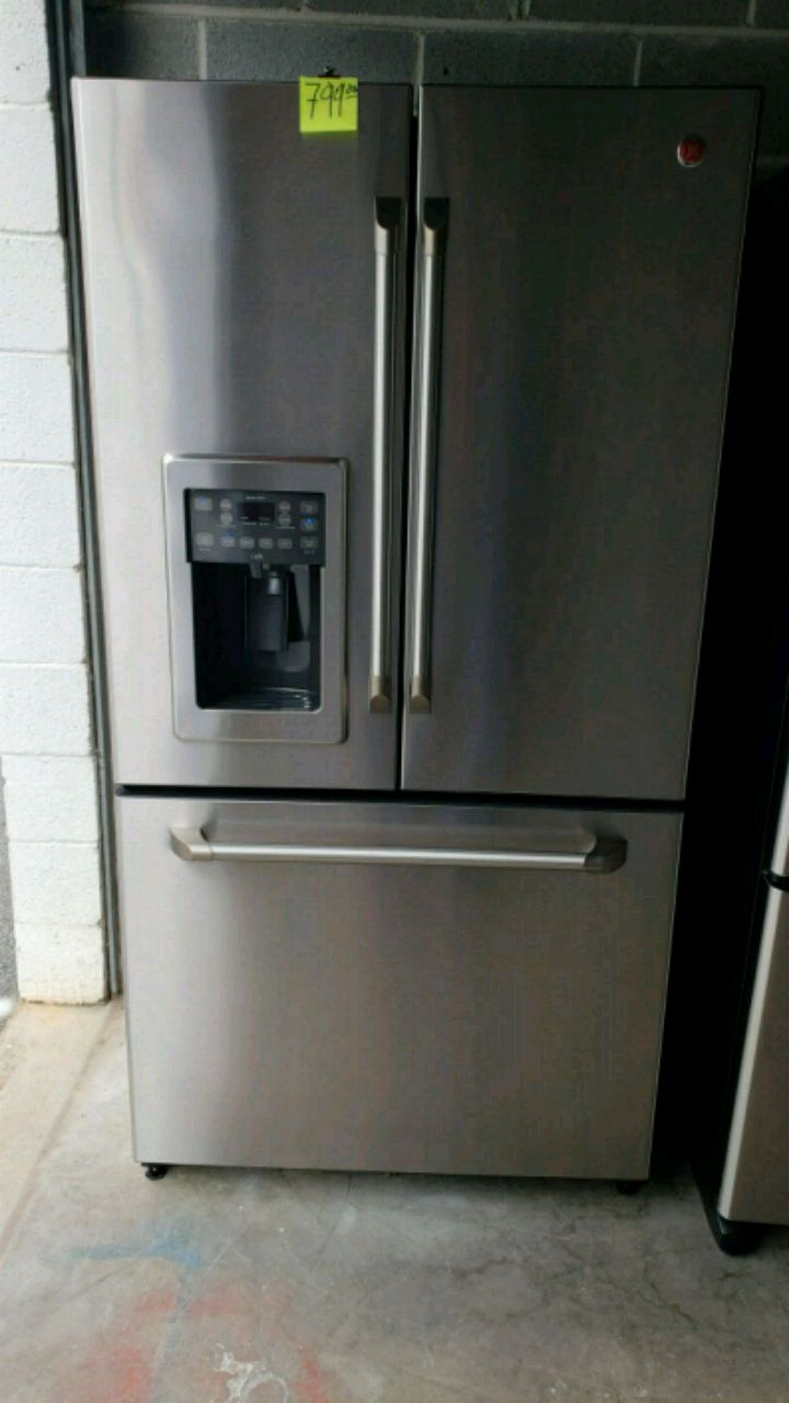 Refrigerator GE Cafe Counter Depth Stainless Steel