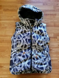 Volcom Quilted Down Vest Women's Size L Eugene