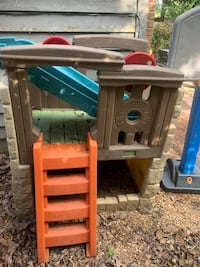 Set of 3 outdoor play sets. Little Tikes Climber and slide. Fisher Price basketball goal.  Ridgeland, 39157