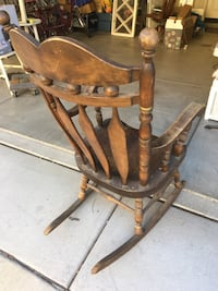 Brown wooden rocking chair with ottoman Simi Valley, 93063
