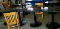 black wooden pedestal table with chairs Kokomo, 46902