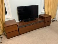 IKEA Entertainment / TV stand with end tables Chantilly, 20151