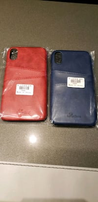 Two leather credit card Case for iPhone XR
