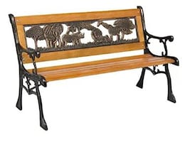Outdoor safari kids bench