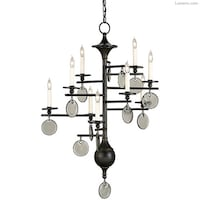 Currey and Company Stethos 9 light  Chandelier- 28W X 40H null